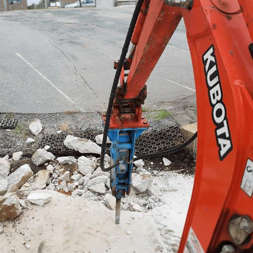 mini excavator rock breaker