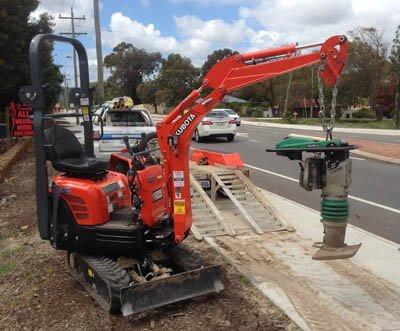 Hire our mini excavator
