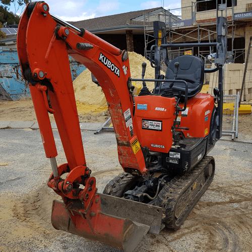 mini excavator residential